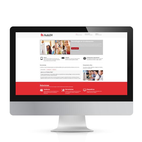 Aula24horas diseño web